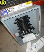 Square D Qo324l125g 125 Amp Three Phase N1 Indoor Load Center 24 Ckt W/cover