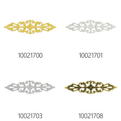 20pcs 57*16mm Brass Hollow Filigree Flower Wraps Connectors,Filigree Drop