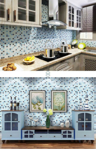 DIY 3D Mosaic Self Adhesive Wall Tile Sticker Vinyl Home Kitchen Bathroom Decor