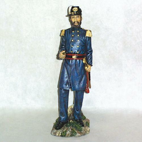 """US UNION CIVIL WAR 12/"""" OFFICER WITH SWORD AND PIPE STANDING FIGURE HAND PAINTED"""