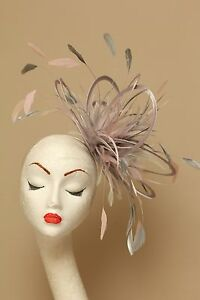 Silver   Baby Pink Fascinator Hat choose any colour satin and ... c253e993ef1