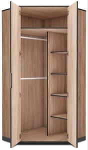 image is loading delta corner wardrobe closet cupboard oak effect with - Corner Wardrobe Closet