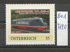 """Österreich PM personalisierte Marke Eisenbahn """"HECTORRAIL"""" **"""