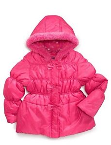 luxury aesthetic pick up best place for Details about Pink Platinum Toddler Girls Puffer Hooded Winter Jacket  Coat-2T NWT