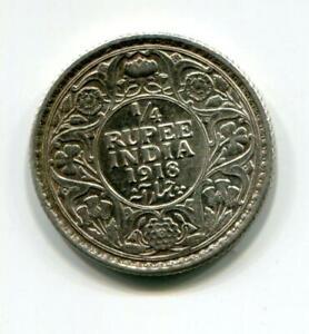 BR.INDIA 1918 1/4 RUPEE