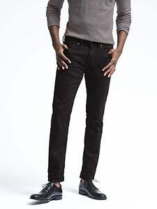 Brand-New-Banana-Republic-Men-s-Slim-Black-Rinse-Jean-303938-Size-35x30