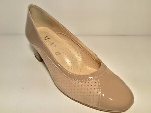 Shoes-Court-Shoes-039-Woman-MM-Confort-418-With-Taupe-Made-IN-Italy-Heel-40