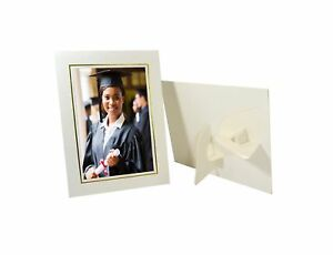 Details About Golden State Art Pack Of 25 Cardboard Photo Easel Frame For 5x7 Photo Ivory