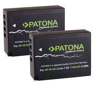 2-x-Patona-Premium-Akku-fuer-Fuji-Film-X-T1-X-T10-NP-W126