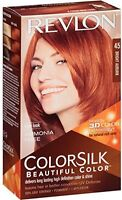 3 Pack Revlon Colorsilk Beautiful Permanent Hair Color (45) Bright Auburn on Sale