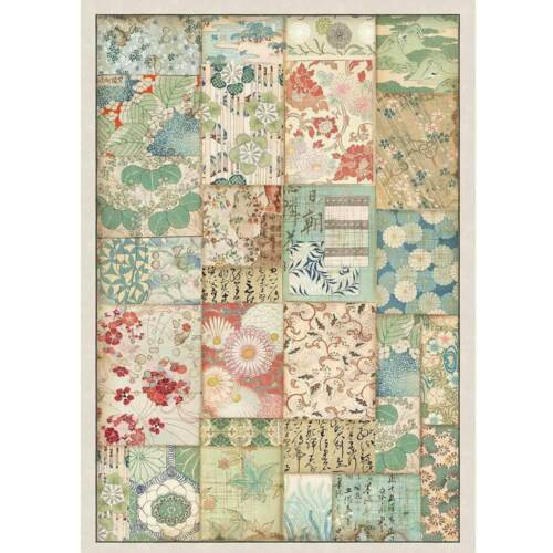 Rice Paper Stamperia 1 x A4 Size Sheet Patchwork Asian Oriental Decoupage