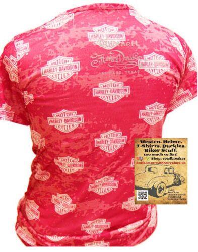Harley Davidson Frauen T Shirt Modell  B/&S Rot
