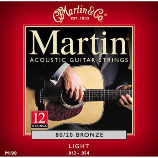 martin acoustic guitar strings 12 string m190 light for sale online ebay. Black Bedroom Furniture Sets. Home Design Ideas