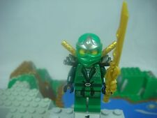 LEGO Ninjago 9450 LLOYD ZX Green Ninja  Minifigure With 3 Golden Swords NEW D32