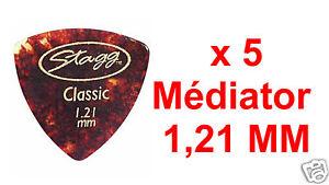 5-Mediators-Taille-Epaisseur-1-21-mm-Forme-Elliptique-Style-Ecaille-de-Tortue
