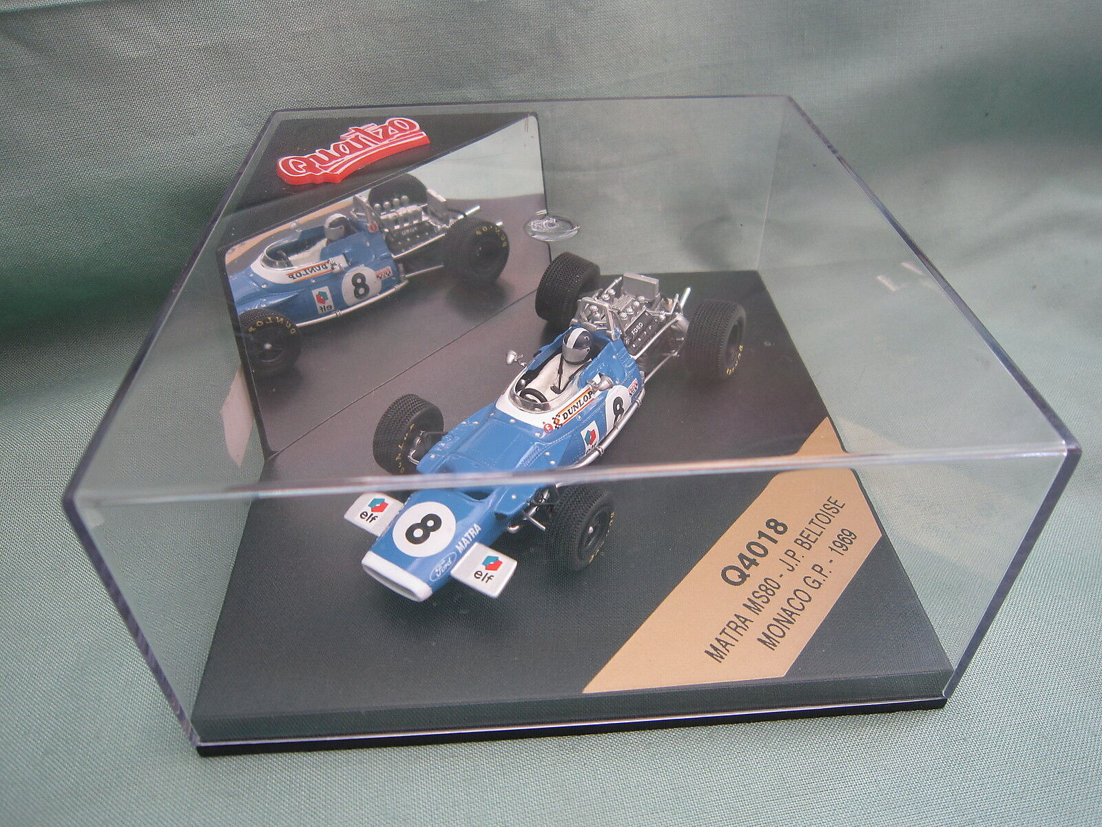 Dv6069 quartzo matra speed ms80 monaco gp 1969 beltoise q4018 1 43 f1