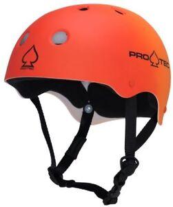 Protec Classic Skate Helmet Red Orange Fade  Size Medium Skate Scooter Pro-Tec