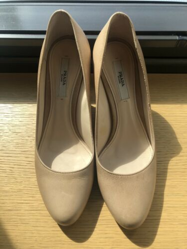 Prada Nude Leather Pumps Size 6.5