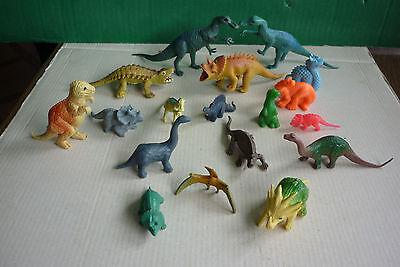 18 Tiere Figuren Plastik Dinos Ddr? Dinosaurier Tyrannosaurus T-rex Triceratops Komplette Artikelauswahl