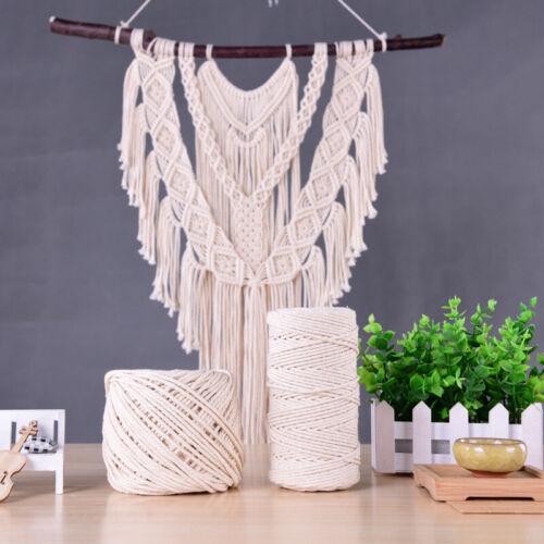 3mm Baumwolle Schnur Seil Faden Garn Häkeln Makramee Baumwollschnur Rolle Gifts