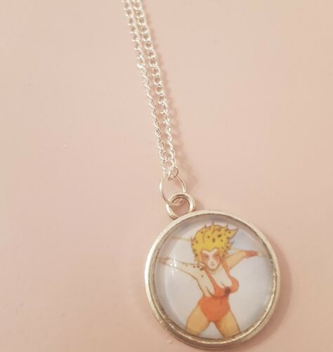 Cheetara Thundercats 80s Cartoon Retro Childhood Heroes  Silver Plated Necklace