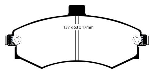 EBC Blackstuff Bremsbeläge Vorderachse DP1670 für Hyundai Matrix