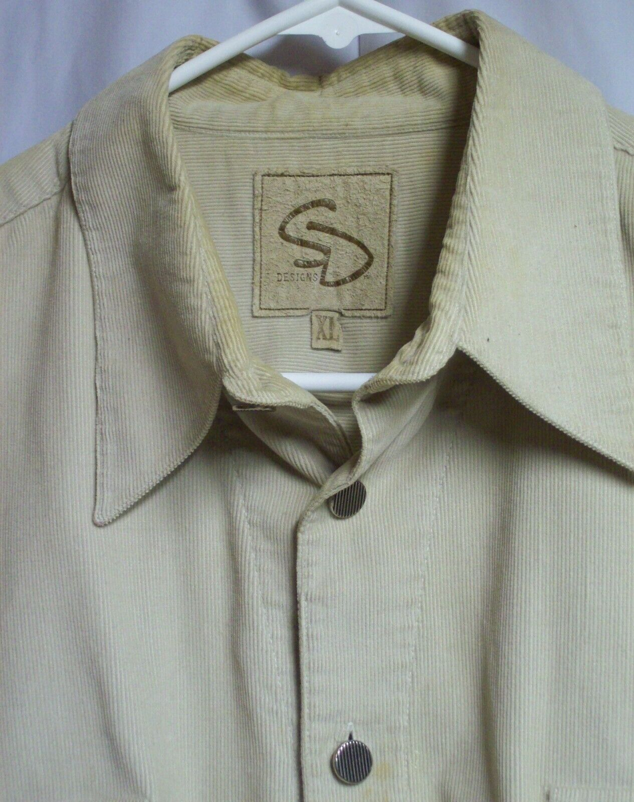 Vintage Mens Western Cotton Corduroy Overshirt XL… - image 8