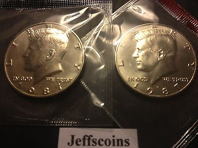 2003 P and D Kennedy Half Dollar Coin from US Mint Set 2 BU Cello Fifty Cent UNC