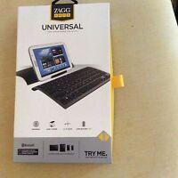ZAGG KEYS Universal Bluetooth Keyboard Case & Stand for iPad & Samsung Tablet