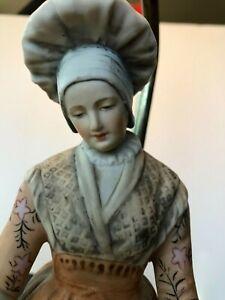 Antique-Pair-2-French-Figural-Couple-Porcelain-Lamps-Superb-Artistry