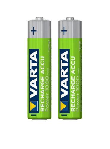 2x baterías VARTA AAA micro 1000mah NiMH F telekom t-Sinus a405 a406 205 a502 a100