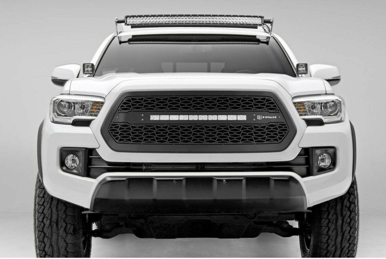 1pc zroadz series black grille w  led light bar t