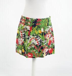 Navy-blue-green-pink-floral-print-cotton-blend-TORY-BURCH-mini-skirt-10