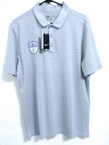 Nike-Golf-Dri-Fit-Mens-Size-Large-Silver-Short-Sleeve-Polo-Shirt-LOGO-NEW-60
