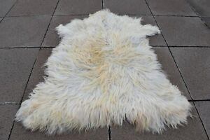 Angora Goat Leather Awesome Home Decor Goat Skin, Pelt Hide 100/% Natural Goat Skin Rug Angora Goatskin Fur Rug 2/'9/'/' x 4/'2/'/' ft