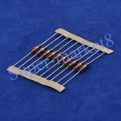 10pcs 220 Ohm 220R 1/2W Carbon Comp Composition Resistor ALLEN Style