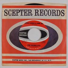 SHIRELLES: What Does A Girl Do USA Scepter SOUL 45 Orig VG++ Super