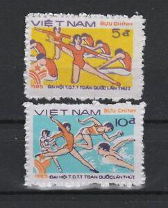 1st National Sports Festival set of 2 mnh stamps 1985 Vietnam #1549-50