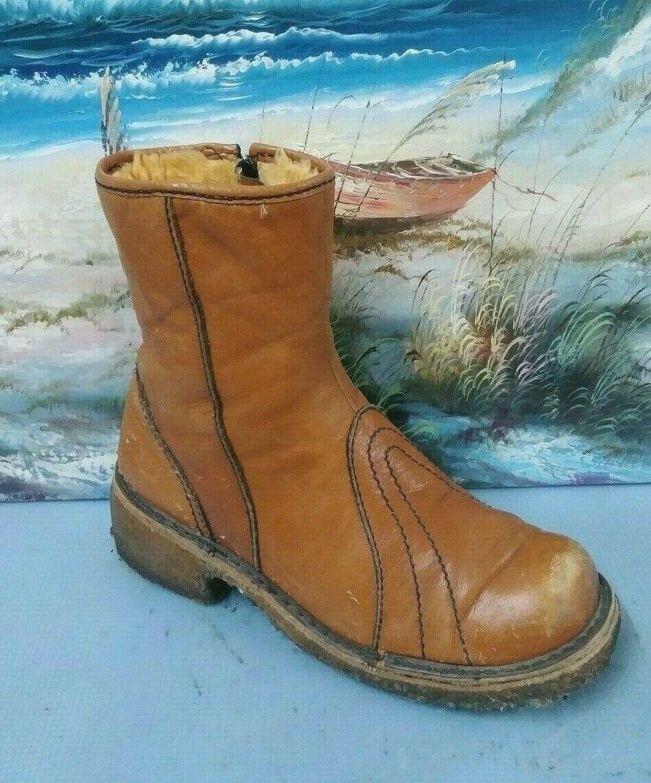 Vikings kvinnor kvinnor kvinnor läder Ankle Winter Zipper bspringaaa Boot Storlek 9 M 795GG59, Spanien  billig