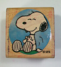 NEW Snoopy Decorated Dog House Christmas Rubber Stamp Peanuts
