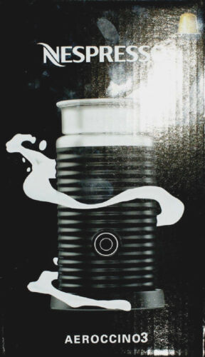 Nespresso Aeroccino 3 elektrischer Milchaufschäumer schwarz Neu /& OVP