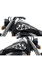 Motorcycle Gas Tank Badge Flame Decal Sticker Set 13x 5.5 Universal Mf173