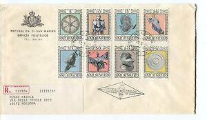 1974 Fdc San Marino Armature Armi Antiche Registerd Raccomandata First Day Cover