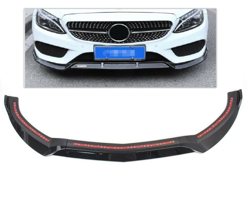 MB W205 Brabus Style Front Lip Gloss Black