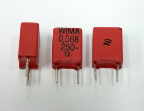 USA Seller Not-NOS Poly Capacitors 16x  WIMA MKP2  0.068uF 250V 683K; NEW