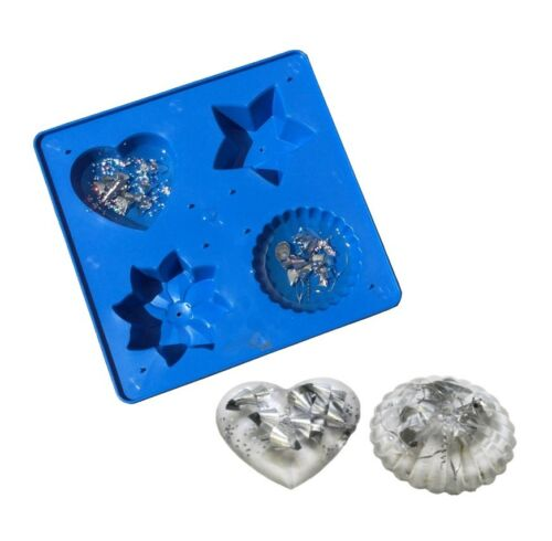 Dome Casting S7290 Heart Flower Star Craft UK MADE Resin Mold Mould Tray