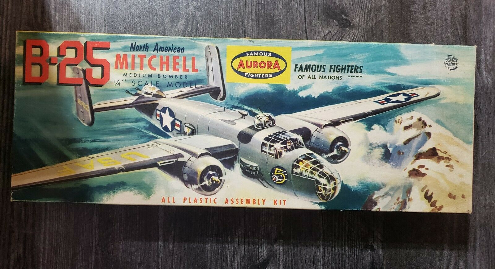 Aurora B-25 North American Mitchell Medium Bomber modello Airplane Kit