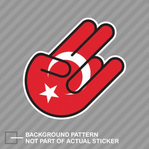 Turkish Shocker Sticker Decal Vinyl Turkey crescent star