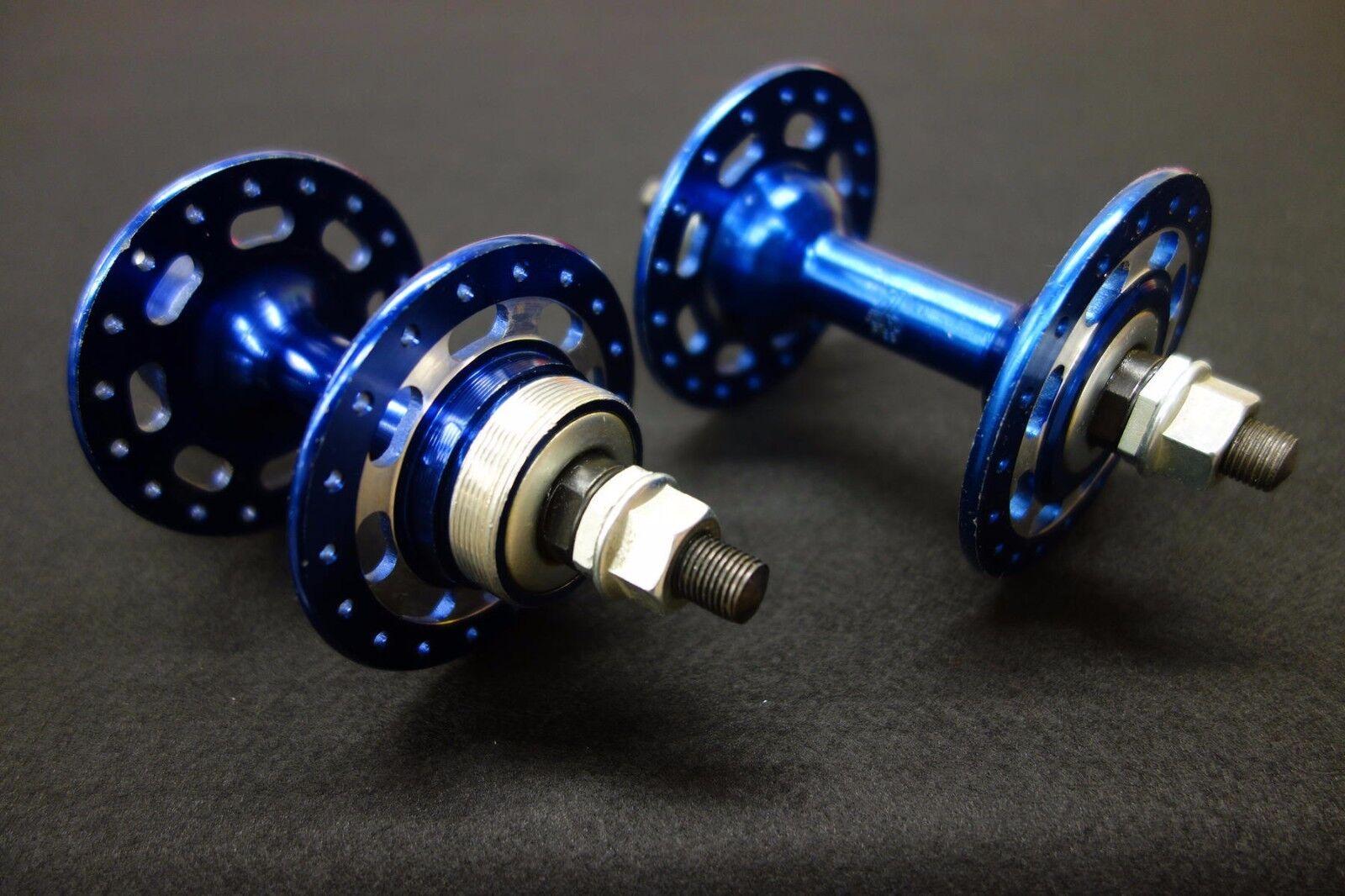 Jou Yu Hub Set vieja escuela de BMX brida alta 36 Agujeros Azul Anodizado Aleación 1980s Nuevo Viejo Stock