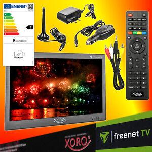 Xoro PTL 1050 DVB-T2 tragbarer HD freenet TV Fernseher 12V 24V 230V LED-TV EEK E